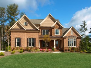 Luxury Model Home Exterior front view